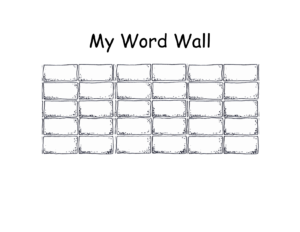 Blank+Printable+Word+Wall+Templates | Descriptive Words for Blank Word Wall Template Free