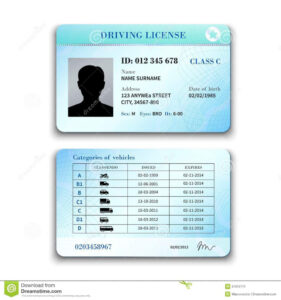 Blankrivers License Template 42388 Images Of South intended for Blank Drivers License Template