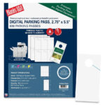 Blanks/usa Laser, Inkjet Print Parking Pass – Direct Office Buys For Blanks Usa Templates