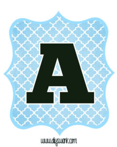 Blue And Black Printable Letters For Banners | Free in Free Letter Templates For Banners