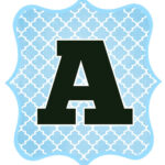 Blue And Black Printable Letters For Banners | Free throughout Christening Banner Template Free