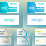 Blue And Olive Business Cards Vector Free Download Within Templates For Visiting Cards Free Downloads