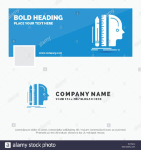 Blue Business Logo Template For Design, Human, Ruler, Size Intended For Facebook Banner Size Template