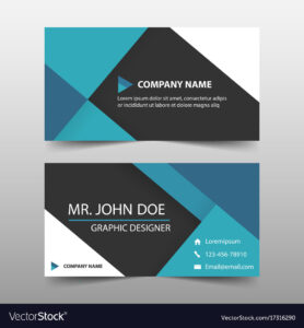 Blue Corporate Business Card Name Card Template throughout Buisness Card Template