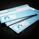Blue Medical Business Card Template – Business Cards Lab Within Medical Business Cards Templates Free
