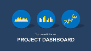 Blue Project Dashboard Powerpoint Template throughout Project Dashboard Template Powerpoint Free