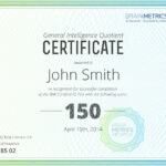 Bmi Certified Iq Test - Take The Most Accurate Online Iq Test! pertaining to Iq Certificate Template