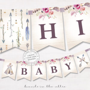Bohemian Alphabet Party Banner Throughout Bride To Be Banner Template