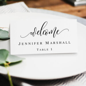 Boho Name Cards Template Printable Wedding Place Cards Table Name Cards  Wedding Place Cards Instant Download Pdf Calligraphy Template #vm11 inside Table Name Card Template