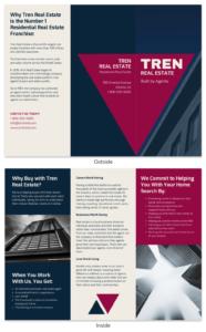 Bold Real Estate Tri Fold Brochure Template Template – Venngage in Training Brochure Template
