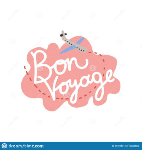 Bon Voyage, Have Nice Trip Banner Template Vector in Bon Voyage Card Template