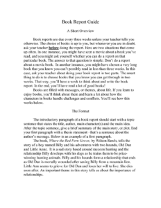 Book Report Template College Level | Glendale Community Intended For College Book Report Template