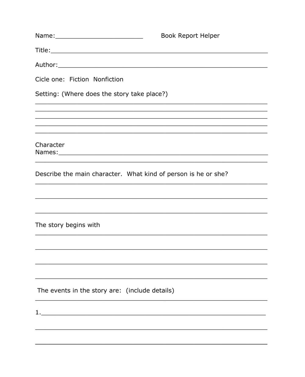 Book Report Templates From Custom Writing Service Intended For One Page Book Report Template