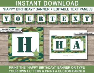Boot Camp Party Printables, Invitations & Decorations with Boot Camp Certificate Template