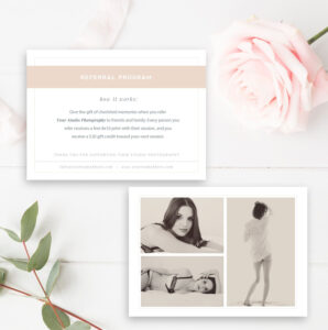 Boudoir Photography Referral Card – Photoshop Template with regard to Photography Referral Card Templates