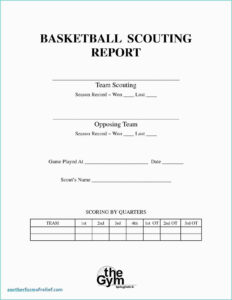 Bowling Spreadsheet And Basketball Scouting Report Template intended for Scouting Report Template Basketball