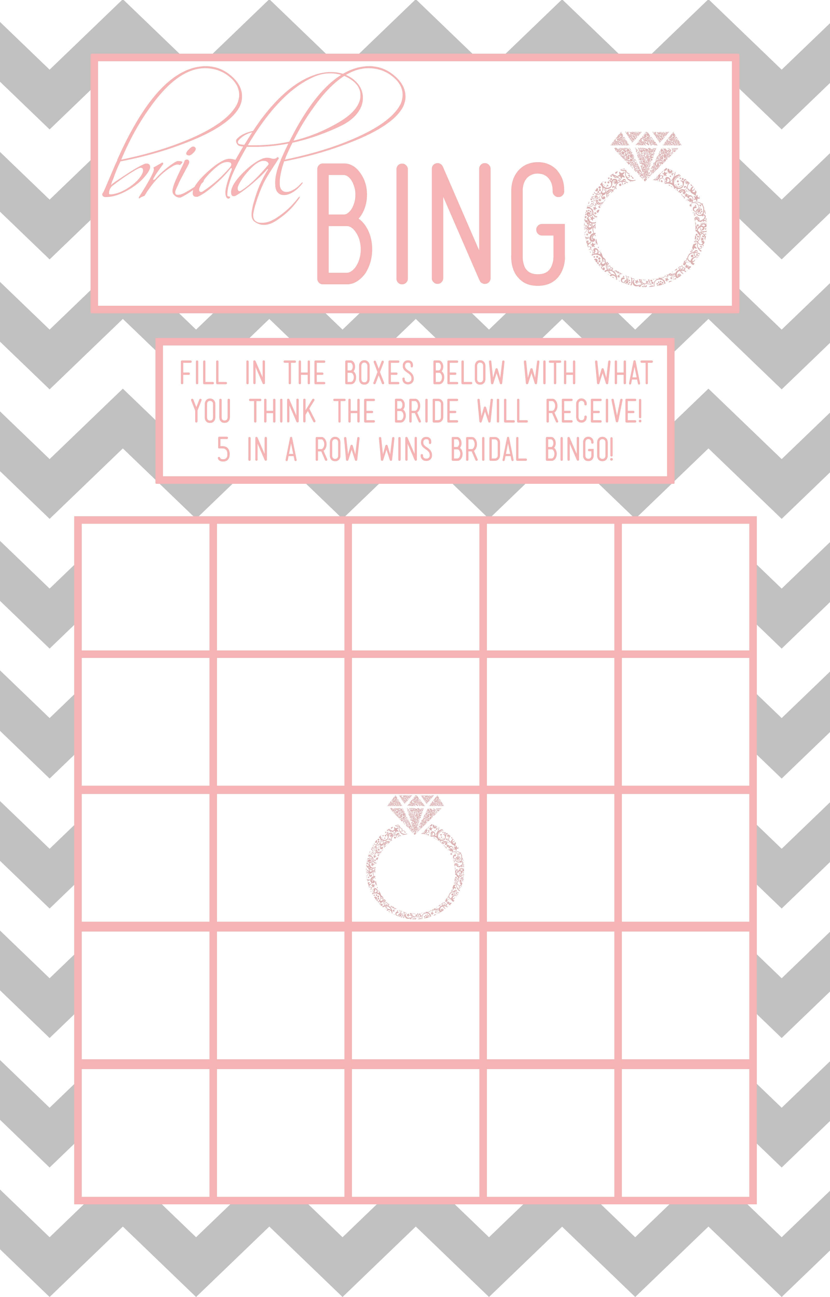 Bridal Shower Bingo Template | Madinbelgrade In Blank Bridal Shower Bingo Template