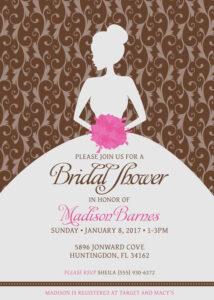 Bridal Shower Invitations. Blank Bridal Shower Invitations inside Blank Bridal Shower Invitations Templates