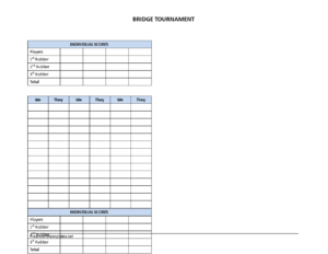Bridge Score Sheet | Templates At Allbusinesstemplates intended for Bridge Score Card Template