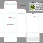 Bridge Tuck Box (108 Cards) In Playing Card Template Illustrator