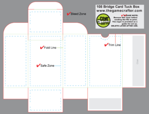 Bridge Tuck Box (108 Cards) in Playing Card Template Illustrator