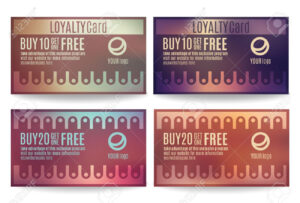 Bright And Colorful Customer Loyalty Card Or Reward Card Templates within Customer Loyalty Card Template Free