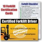 Brilliant Ideas For Forklift Certification Wallet Card Regarding Forklift Certification Card Template