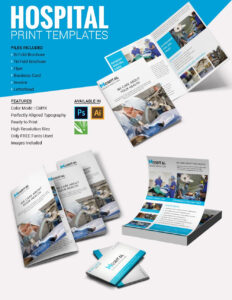Brochura De Modelos Hospitalares | Impressos & Papelaria intended for Healthcare Brochure Templates Free Download