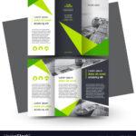 Brochure Design Template Creative Tri Fold Green For E Brochure Design Templates