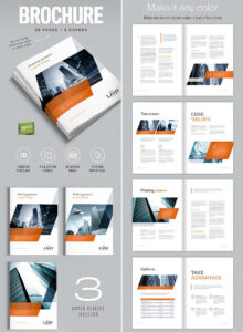 Brochure Template For Indesign – A4 And Letter | Amann for Technical Brochure Template