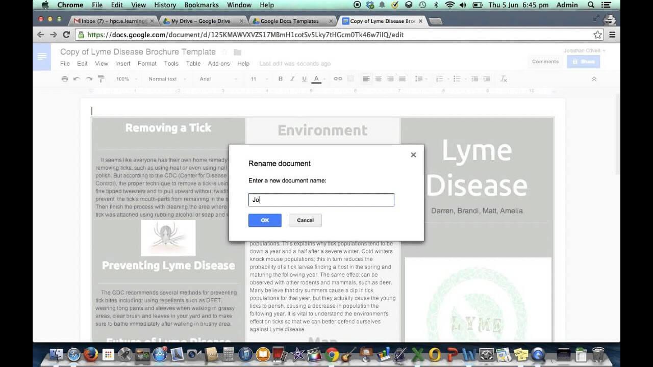 Brochure Template In Google Drive Pertaining To Google Drive Brochure Template