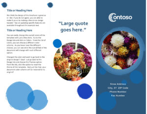 Brochures – Office For One Page Brochure Template