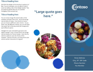 Brochures – Office within Ms Word Brochure Template