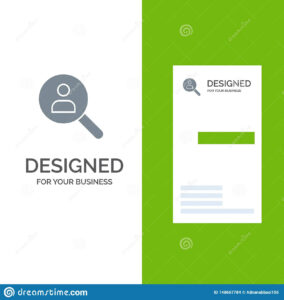 Browse, Find, Networking, People, Search Grey Logo Design with regard to Networking Card Template