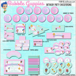 Bubble Birthday Invitations Guppies 2Nd High Quality Free For Bubble Guppies Birthday Banner Template