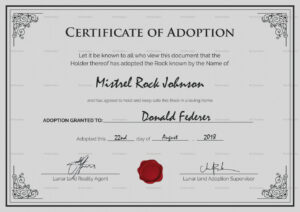 Bunch Ideas For Blank Adoption Certificate Template With Regarding Blank Adoption Certificate Template