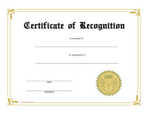 Bunch Ideas For Safety Recognition Certificate Template Of for Safety Recognition Certificate Template