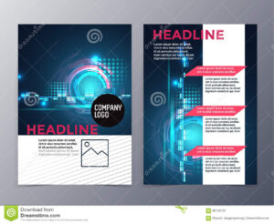 Business And Technology Brochure Design Template Vector Tri with Technical Brochure Template
