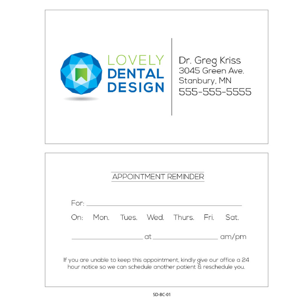 Business Card Appointment Reminder Card Templates – Gargle Within Dentist Appointment Card Template