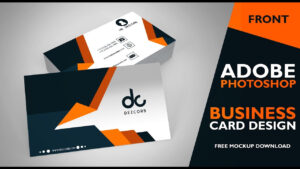 Business Card Design In Photoshop Cs6 | Front | Photoshop Tutorial throughout Business Card Template Photoshop Cs6