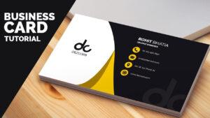 Business Card Design In Photoshop Cs6 Tutorial | Learn Photoshop Front for Photoshop Cs6 Business Card Template