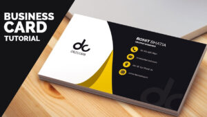 Business Card Design In Photoshop Cs6 Tutorial | Learn Photoshop Front inside Business Card Template Photoshop Cs6