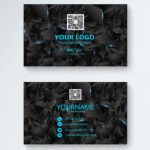 Business Card Design Of Black Science And Technology With Free Personal Business Card Templates