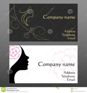 Business Card For Hairdressers Stock Vector – Illustration For Hairdresser Business Card Templates Free