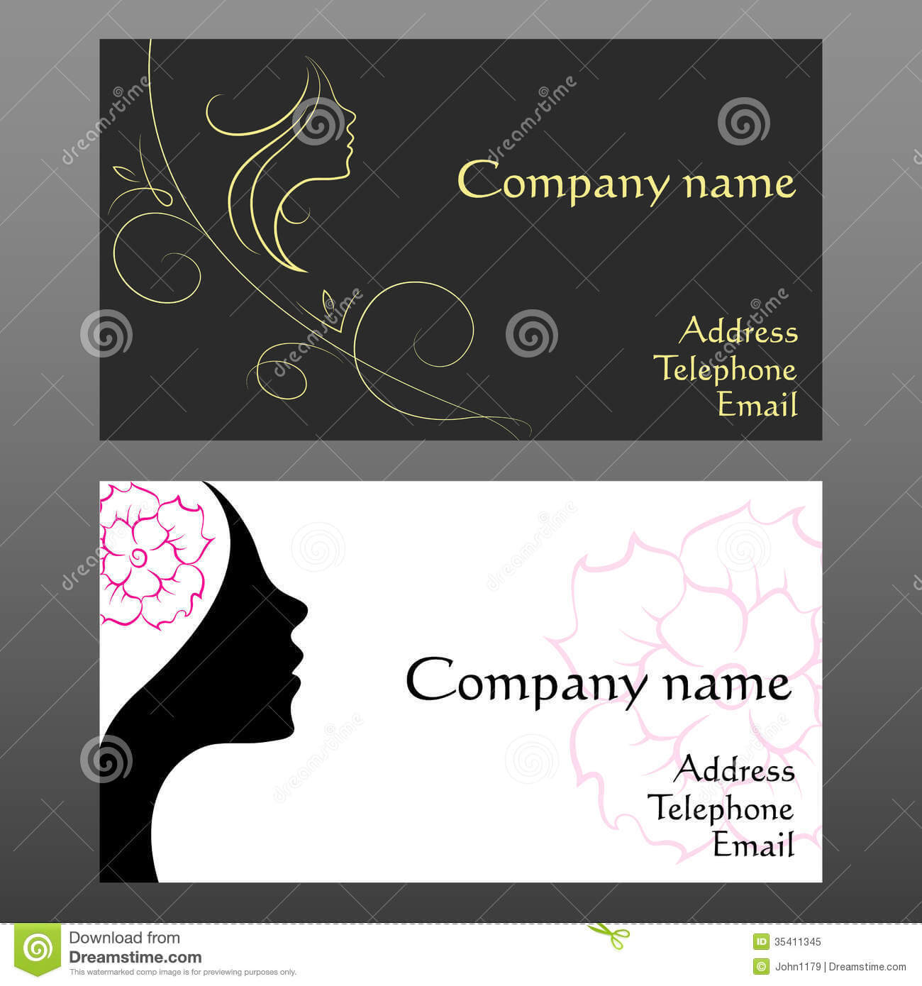 Business Card For Hairdressers Stock Vector - Illustration For Hairdresser Business Card Templates Free