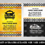 Business Card Template For Taxi Service Stock Vector Image For Transport Business Cards Templates Free