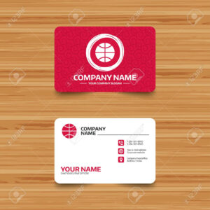 Business Card Template With Texture. Basketball Sign Icon. Sport.. throughout Free Sports Card Template