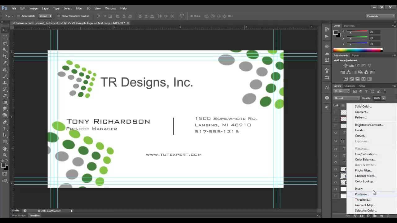 Business Card Tutorial - Create Your Own - Photoshop Throughout Create Business Card Template Photoshop