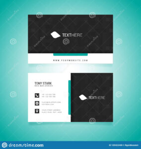 Business Card Vector Template Stock Vector – Illustration Of With Adobe Illustrator Business Card Template