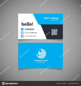 Business Card With Qr Code Template | Business Card Template Throughout Qr Code Business Card Template